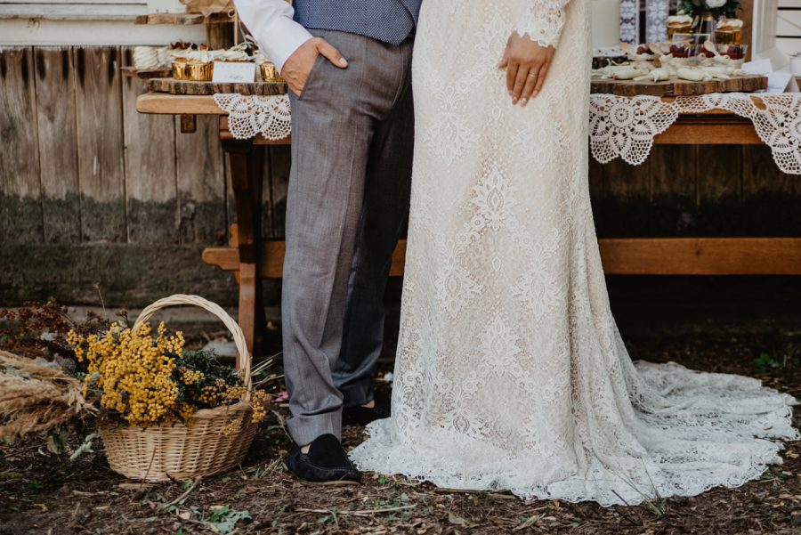 detal ślubny